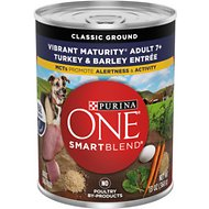 Purina ONE SmartBlend Classic Ground Turkey & Barley Entree Adult Wet Dog Food, 13-oz, case of 12