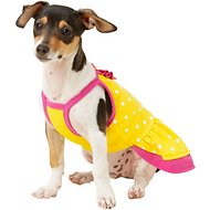 Frisco Polka Dot UPF35 Dog Sundress, Yellow, X-Small