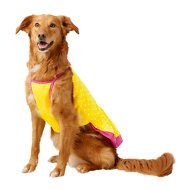 Frisco Polka Dot UPF35 Dog Sundress, Yellow, X-Large