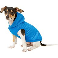Frisco French Terry Heather Lightweight Hoodie, Blue, X-Small