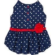 Frisco Polka Dot Flower Dress, Navy, Medium