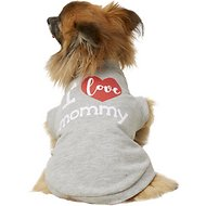 Frisco I Love Mommy Dog T-Shirt, Gray, Small