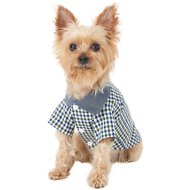 Frisco Chambray Plaid Dog Shirt, X-Small