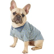 Frisco Chambray Plaid Dog Shirt, Medium