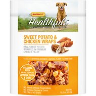 Ruffin' It Healthfuls Sweet Potato & Chicken Wraps Dog Treats, 16-oz bag
