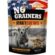 No Grainers BBQ Chicken Flavor Jerky Chews Grain-Free Dog Treats, 5-oz bag