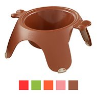 Petego Yoga Dog & Cat Bowl, Small, Brown