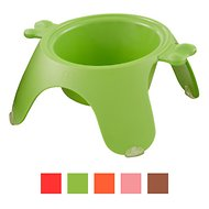 Petego Yoga Dog & Cat Bowl, Small, Green