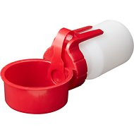 Water Rover Portable Dog & Cat Water Bottle & Bowl, Red, Small