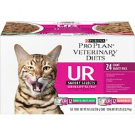 Purina Pro Plan Veterinary Diets UR St/Ox Savory Selects Feline Variety Pack Canned Cat Food, 5.5-oz, case of 24