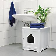 Trixie Wooden Cat Home & Litter Box Cover, White
