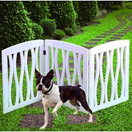 Etna 3 Panel Adjustable Wooden Gate, White