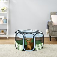 Etna Blue Sky Portable Pet Playpen, Small