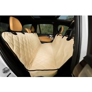 Plush Paws Products Quilted Hammock Car Seat Cover, Tan, Regular