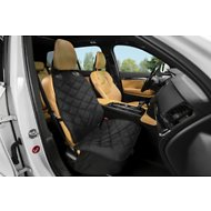 Plush Paws Products Quilted Co-Pilot Bucket Car Seat Cover, Black