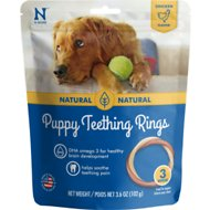 N-Bone Puppy Teething Ring Chicken Flavor Dog Treats, 3 count