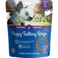 N-Bone Puppy Teething Ring Pumpkin Flavor Dog Treats, 3 count