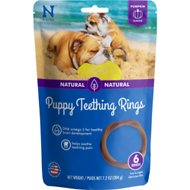 N-Bone Puppy Teething Ring Pumpkin Flavor Dog Treats, 6 count