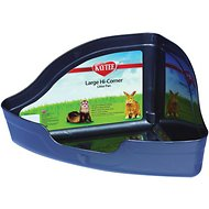 Kaytee Hi-Corner Small Animal Litter Pan, Large, Color Varies