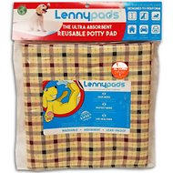 Lennypads Ultra Absorbent Washable Dog Pads, Homecoming Beige Plaid, X-Large