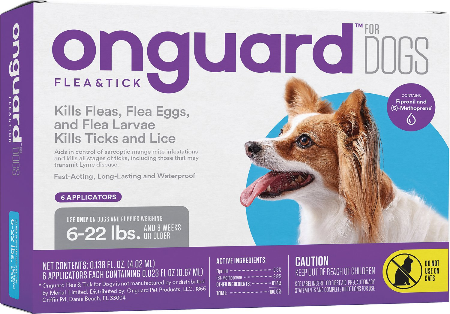 Onguard Flea Tick Treatment For Dogs Up To 22 Lbs 6 Treatments