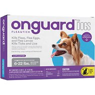 Onguard Flea & Tick Treatment for Dogs, up to 22 lbs, 6 treatments (Compare to Frontline  Plus)