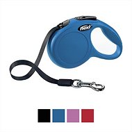 Flexi New Classic Retractable Tape Dog Leash, Blue, Large, 26-ft