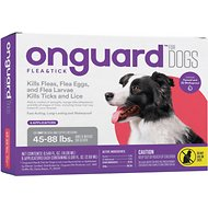 Onguard Flea & Tick Treatment for Dogs, 45-88 lbs, 6 treatments