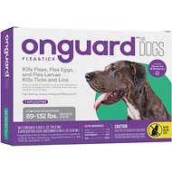 Onguard Flea & Tick Treatment for Dogs, 89-132 lbs, 6 treatments (Compare to FRONTLINE® Plus)