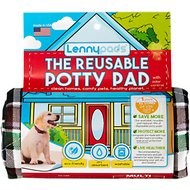 Lennypads Ultra Absorbent Washable Dog Pads, Picnic Hunter Green Plaid, X-Large