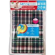 Lennypads Ultra Absorbent Washable Designer Dog Pads, Green Plaid, Jumbo