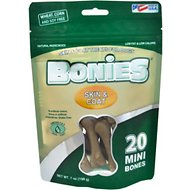 BONIES Skin & Coat Formula Mini Dog Treats, 20 count