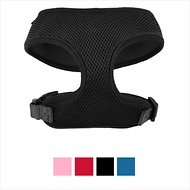 Frisco Small & Medium Breeds Soft Mesh Dog Harness, Black, 14 - 18.5 in