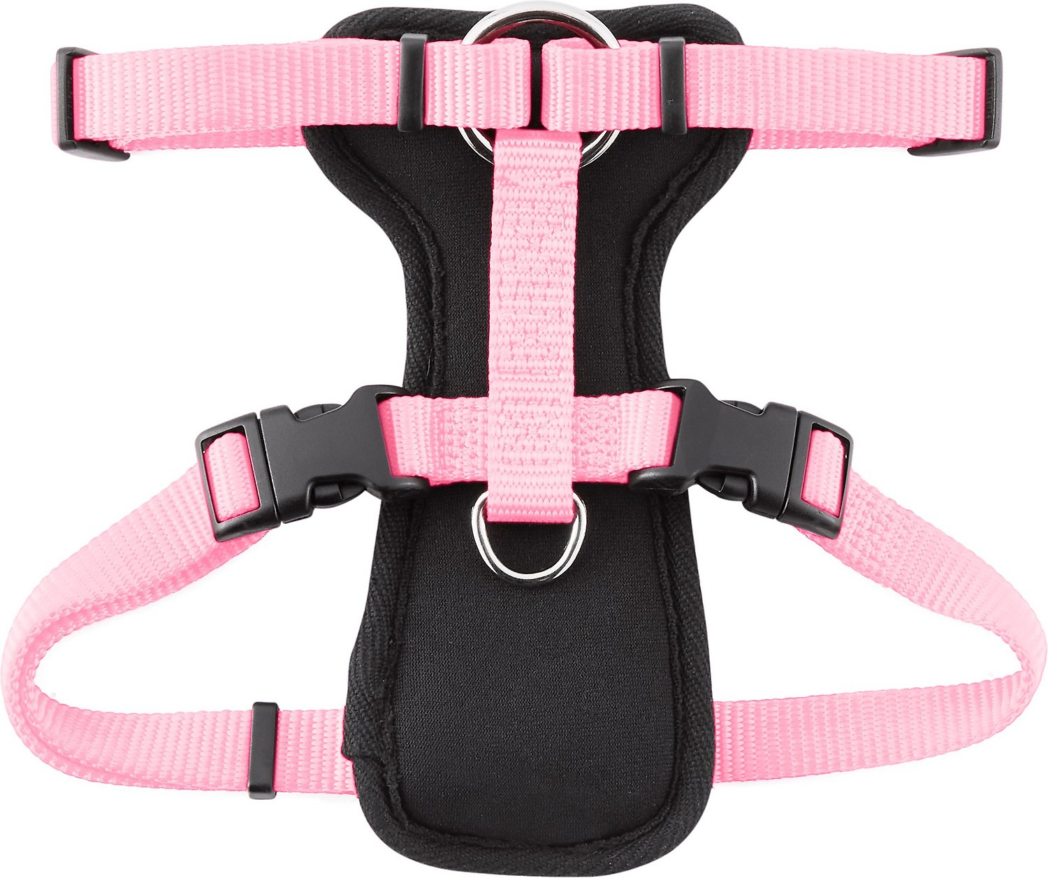 Frisco Padded Front Lead Dog Harness Pink 16 22 In