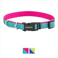 Frisco Patterned Dog Collar, Pink Polka Dot, Medium