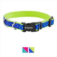 Frisco Patterned Dog Collar, Lime Polka Dot, Small