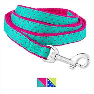 Frisco Patterned Dog Leash, Pink Polka Dot, 6 ft, 5/8-in