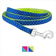 Frisco Patterned Dog Leash, Lime Polka Dot, 6 ft, 3/8-in