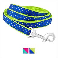 Frisco Patterned Nylon Dog Leash, Lime Polka Dot, Small: 6-ft long, 5/8-in wide