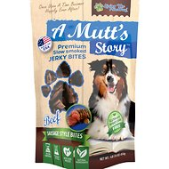 Living the PawWay A Mutt's Story Beef Jerky Bites Dog Treats, 1-lb bag