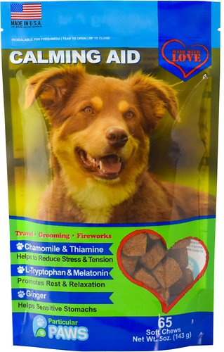 Particular Paws Calming Aid Soft Chews Dog Supplement