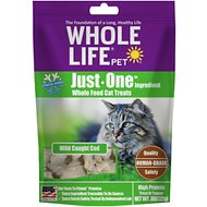 Whole Life Just One Ingredient Pure Cod Fillet Freeze-Dried Cat Treats, .8-oz bag