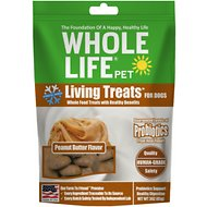 Whole Life Living Treats Real Peanut Butter Dog Treats, 3-oz bag
