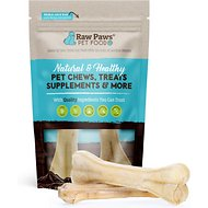 Raw Paws Compressed Rawhide Bone Dog Treats, 6-inch, 2 count