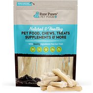 Raw Paws Compressed Rawhide Bone Dog Treats, 6-in, 20 count