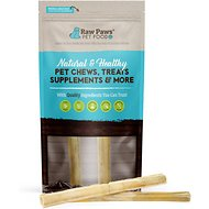 Raw Paws Compressed Rawhide Stick Dog Treats, 10-in, 2 count