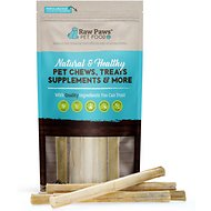 Raw Paws Compressed Rawhide Stick Dog Treats, 10-in, 5 count