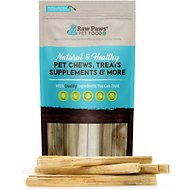 Raw Paws Compressed Rawhide Stick Dog Treats, 10-in