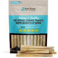 Raw Paws Compressed Rawhide Stick Dog Treats, 10-in, 20 count