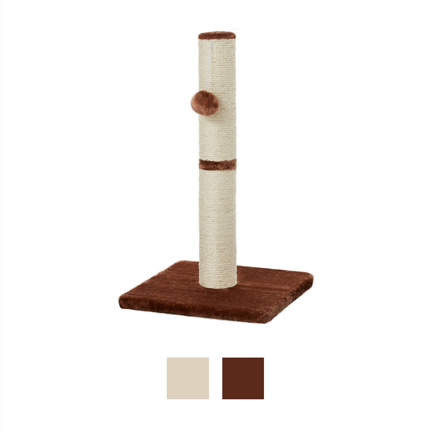 Frisco 21-in Cat Scratching Post with Toy, Cream Frisco 21-in Cat Scratching Post with Toy, Cream new photo